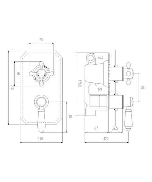 Technical drawing 47960 / ITY316
