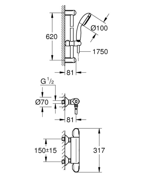 Technical drawing 51705 / 34151004