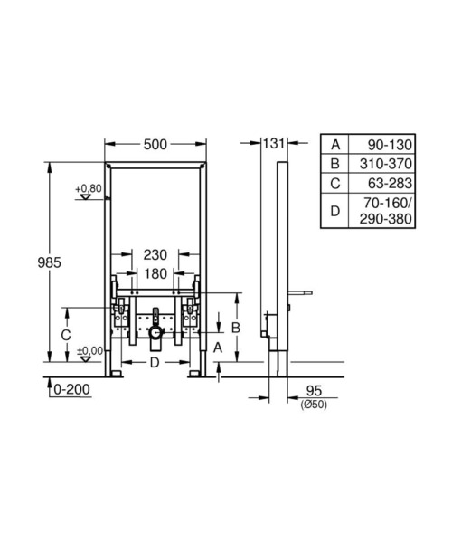 Technical drawing 51721 / 38545000