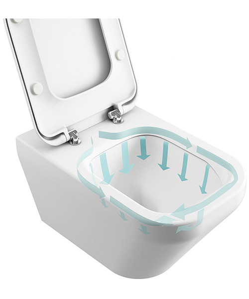 Additional image of Ideal Standard Concept Arc Aquablade Close Coupled WC Pan 665mm