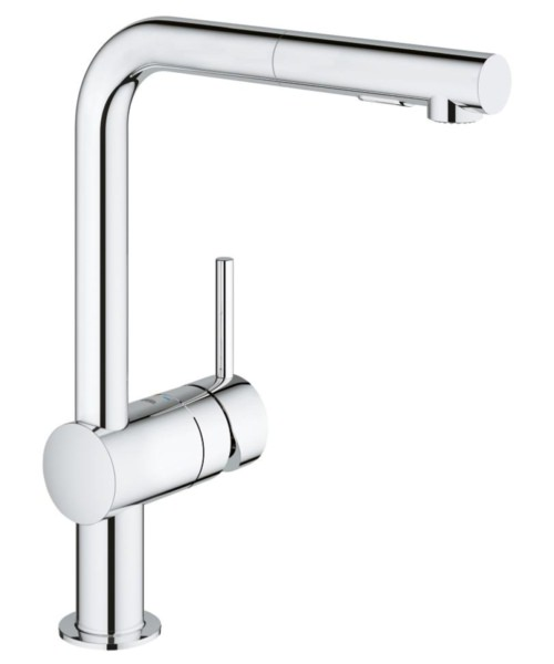 Grohe Minta Deck Mounted Kitchen Sink Mixer Tap Chrome
