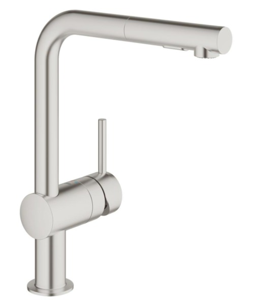 Grohe Minta Deck Mounted Kitchen Sink Mixer Tap Supersteel