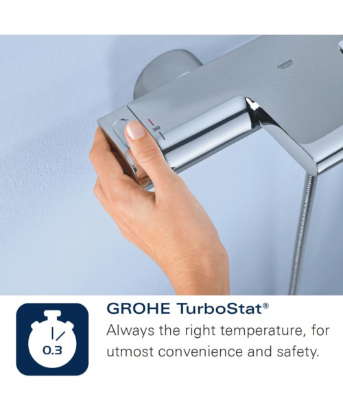 Additional image of Grohe Eurodisc SE Self Closing Thermostat Concealed Shower Valve