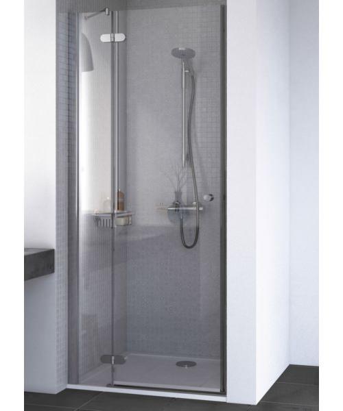 Aqualux ID Match Round 800mm Recess Hinged Shower Door