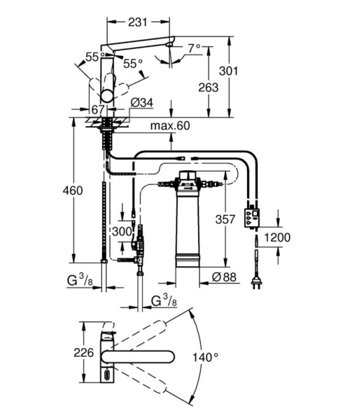Technical drawing 51851 / 31344001