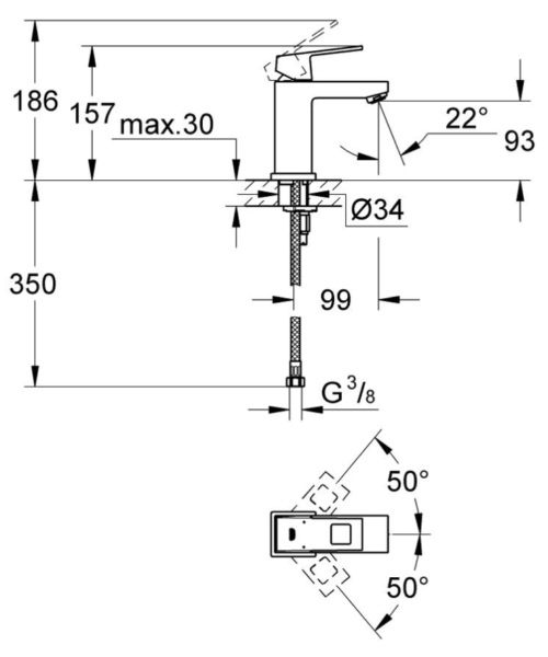 Technical drawing 51854 / 2313200E