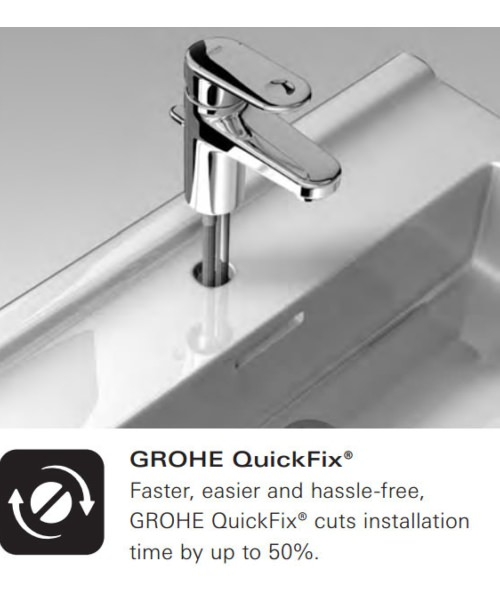 Alternate image of Grohe EuroStyle Cosmopolitan S-Size Half Inch Basin Mixer Tap