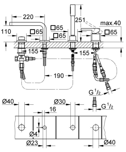 Technical drawing 51847 / 19577000