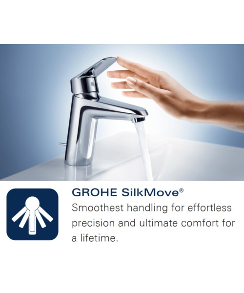 Additional image of Grohe Lineare Four Hole Single Lever Bath Combination