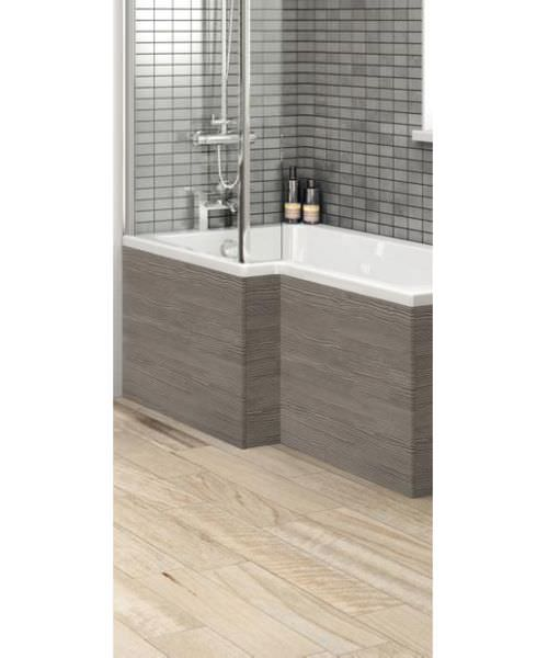 Hudson Reed 1700mm Grey Avola Shower Bath Front Panel