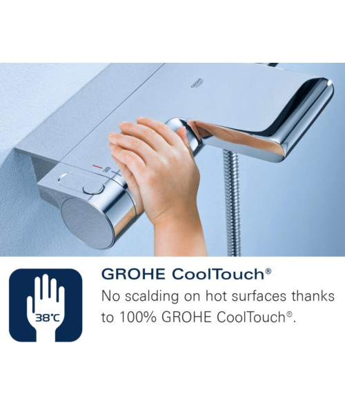 Additional image of Grohe Grohtherm 1000 Thermostatic Shower Mixer Valve With Shower Set