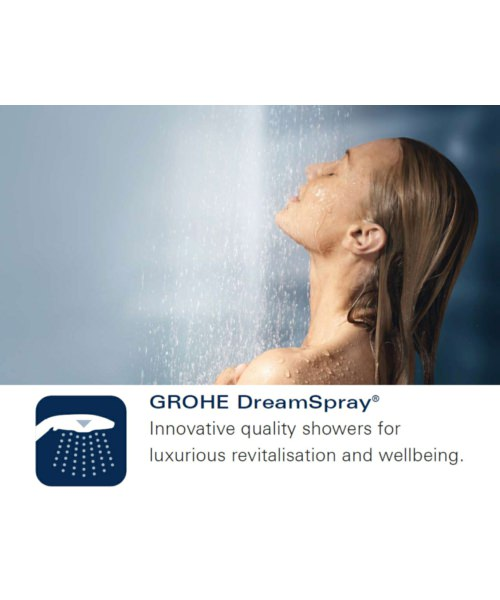Additional image of Grohe Power And Soul 4 Spray Pattern Hand Shower Sheer Marble