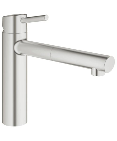 Grohe Concetto Deck Mounted Kitchen Sink Mixer Tap Supersteel