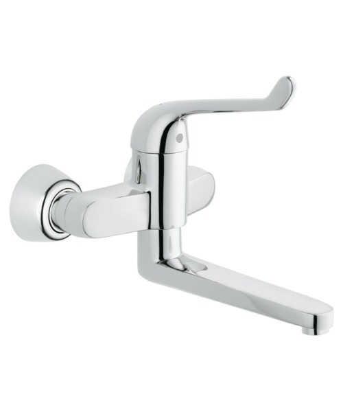 Grohe Euroeco Single Sequential Single Lever Wall Mounted Basin Mixer Tap