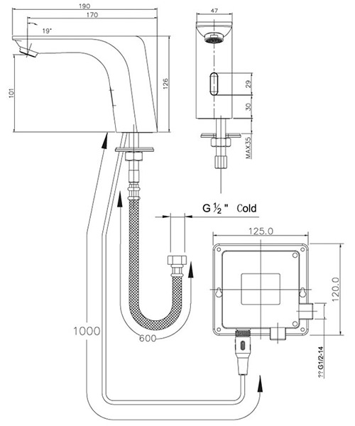Technical drawing 41254 / SENSOR7/D