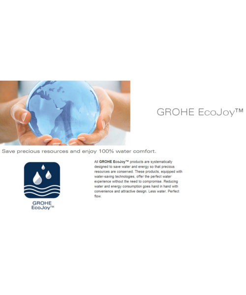 Additional image of Grohe Euroeco Sequential Single Lever Basin Mixer Tap