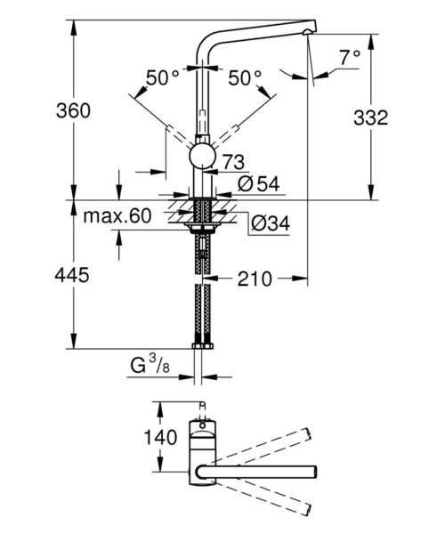 Technical drawing 51799 / 31375DC0