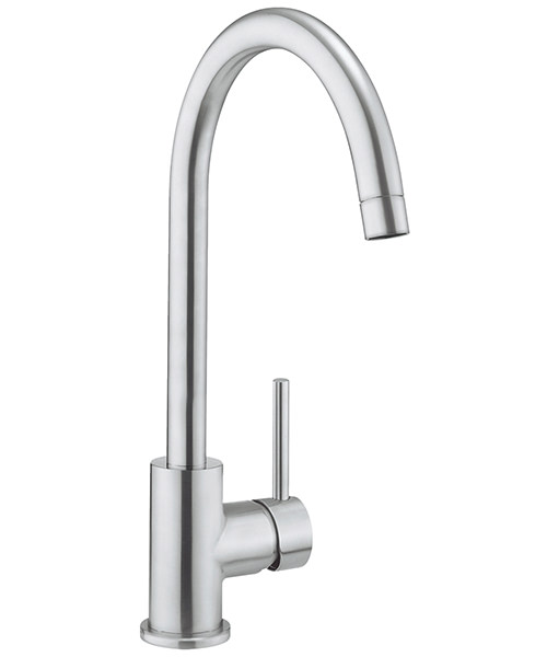 Crosswater Cucina Brushed Stainless Steel Tropic Side Lever Kitchen Sink Mixer Tap