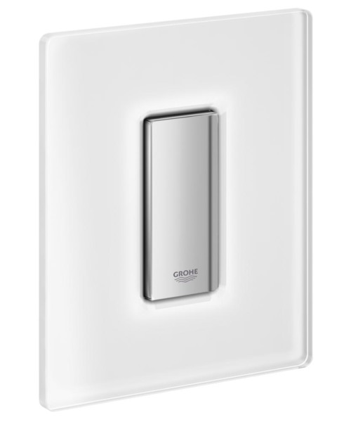 Grohe Skate Cosmopolitan Glass Actuation Flush Plate Frosted White