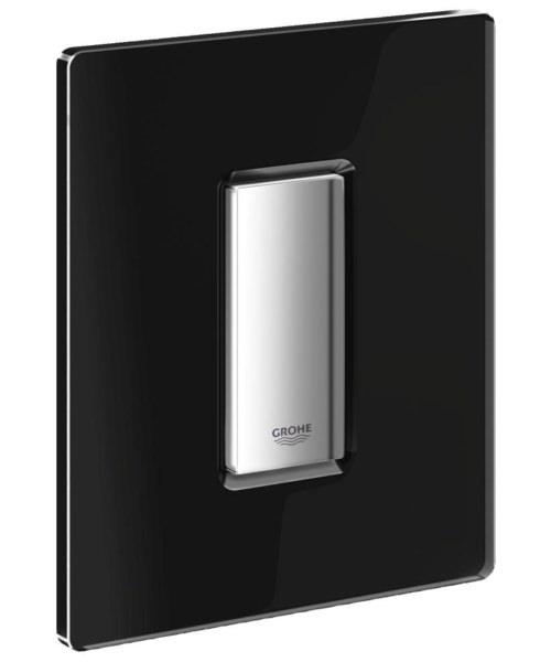 Grohe Skate Cosmopolitan Glass Actuation Flush Plate Velvet Black