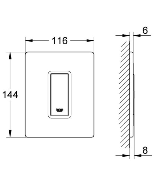 Technical drawing 51968 / 38846KS0