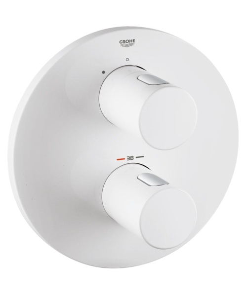 Grohe Grohtherm 3000 Cosmopolitan Thermostatic Shower Mixer Valve Moon White