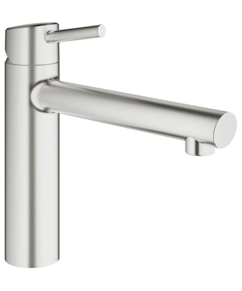 Grohe Concetto Half Inch Kitchen Sink Mixer Tap Supersteel