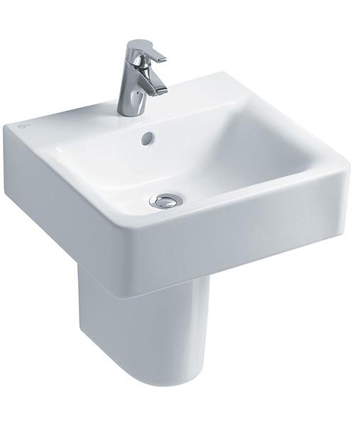 ideal standard concept cube 50cm 1 tap hole basin. Black Bedroom Furniture Sets. Home Design Ideas