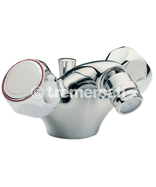 Tre Mercati Capri Clear Head Mono Bidet Mixer Tap With Pop-Up Waste