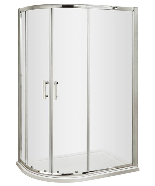 Lauren Pacific 1200 x 900mm Offset Quadrant Shower Enclosure