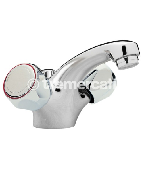 Tre Mercati Capri Mazak Head Single Flow Mono Basin Mixer Tap With Waste