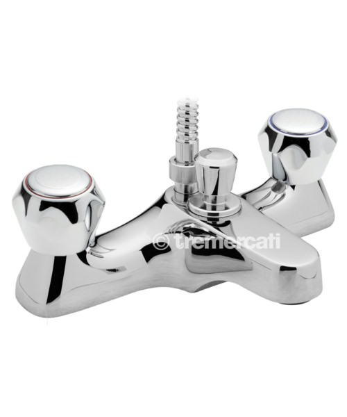 Tre Mercati Capri Deck Mounted Bath Shower Mixer Tap With Mazak Head And Kit