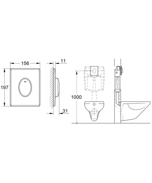 Technical drawing 54064 / 38564SH0