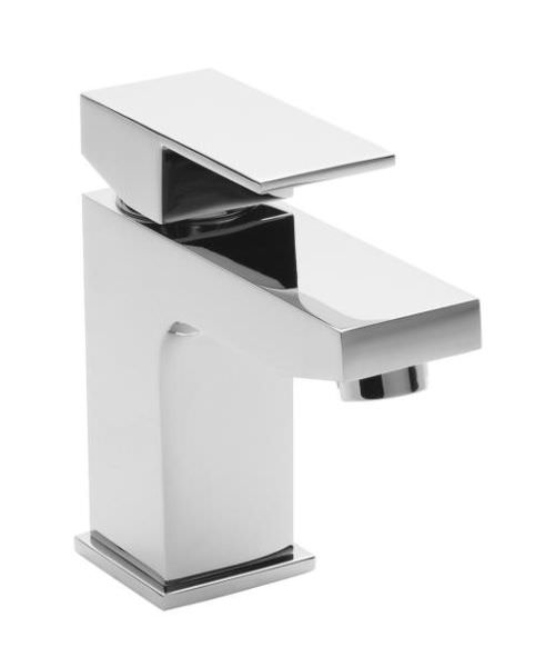 Hudson Reed Art Mini Mono Basin Mixer Tap With Push Button Waste