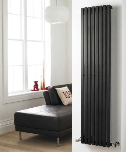 Additional image of Hudson Reed Kinetic 360 x 1800mm Black Vertical Designer Radiator