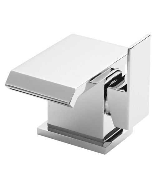 Hudson Reed Bloc Side Action Mono Basin Mixer Tap With Waste