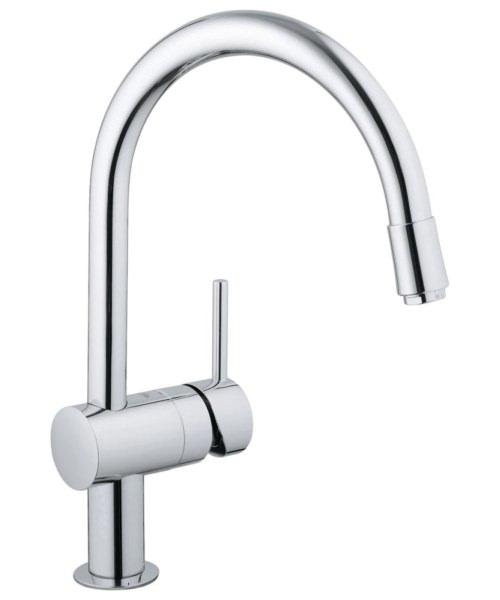 Grohe Minta Chrome Deck Mounted Kitchen Sink Mixer Tap