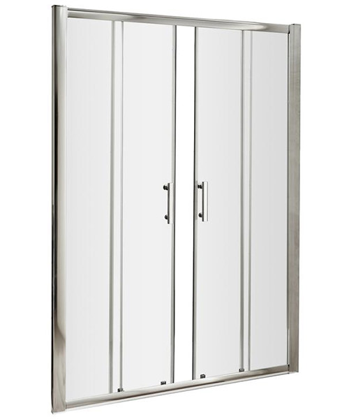 Lauren Pacific 1600 x 1850mm Double Sliding Shower Door