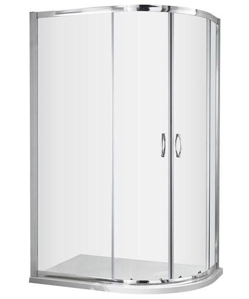 Nuie Premier Ella 1200 x 800mm Offset Quadrant Shower Enclosure