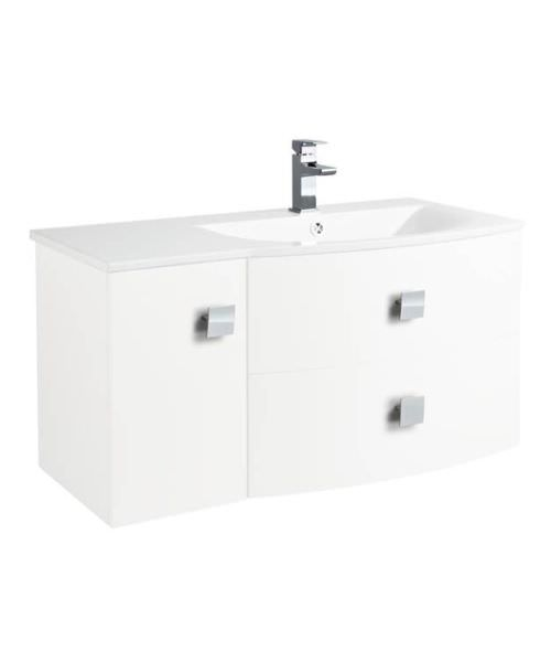 Hudson Reed Sarenna 1000 x 500mm Right Hand White Cabinet With Basin