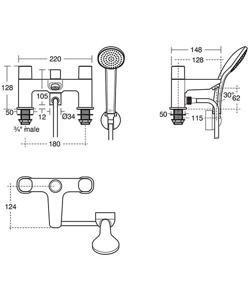 Technical drawing 37860 / B0731AA