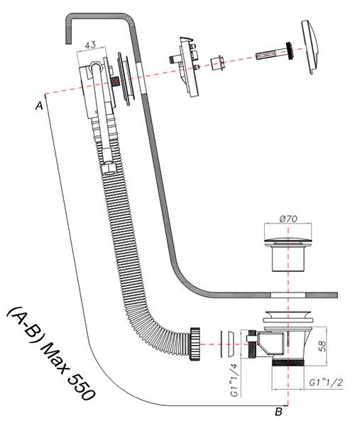 Technical drawing 7158 / BFW0168C