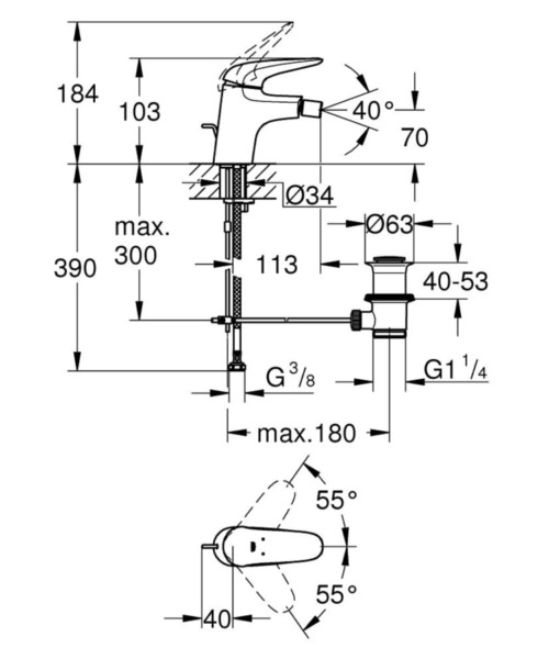 Technical drawing 51677 / 23720LS3