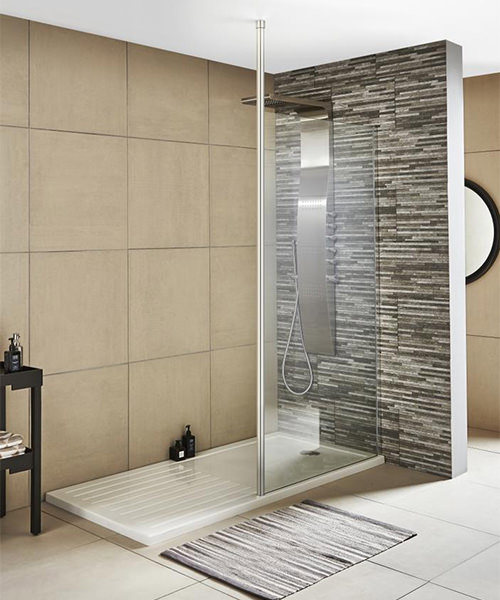 Additional image of Lauren Wetroom Walk-In 1000 x 1850mm Shower Panel