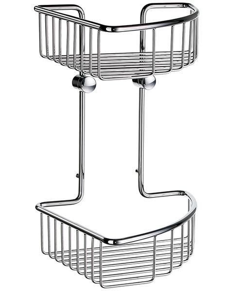 Smedbo Sideline Soap Basket Corner 2 Level 207 x 207mm