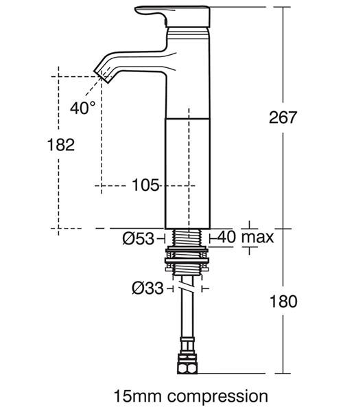 Technical drawing 11595 / E6423AA