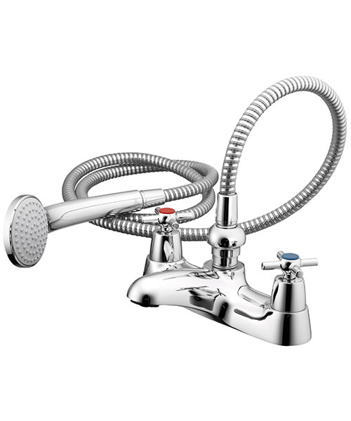 Ideal Standard Crosshead Bath Shower Mixer With Shower Set