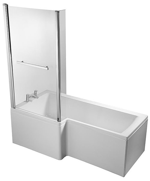 concept idealform square 1500mm left handed shower bath britton ecoround 1500mm shower bath right handed white