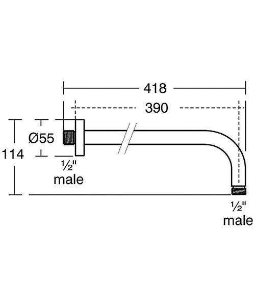 Technical drawing 22097 / B9445AA