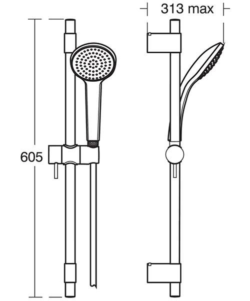Technical drawing 20542 / B9833AA